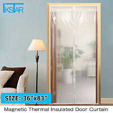 Thermal Curtains For Winter Transparent Magnetic Thermal Insulated Door Curtain Enjoy Your