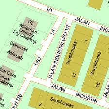 map usj 1 map of jalan industri usj 1 7