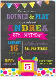 bounce house invitations it up invitations bright