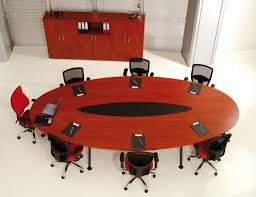 Contemporary Conference Tables by Stunning Oval Shape Conference Table Design With Sophisticated