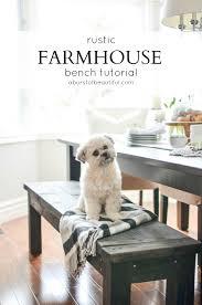How To Build A Farmhouse Bench Diy Farmhouse Bench A Burst Of Beautiful