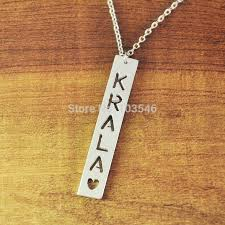 name necklaces cheap 35 best custom bar necklace images on drop necklace