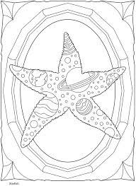 starfish solar system planets coloring sheet dover publications