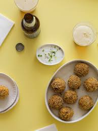 kimchi fried rice balls appetizer recipe spoon fork bacon