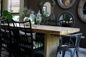 Cheap Mirrored Furniture In Dining Room Transitional With Brown - Dining room with couch