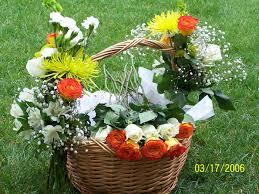 memorial flowers memorial flower baskets