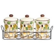 home essentials grape kitchen canister set
