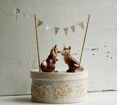 woodland cake toppers blackbirds bumblebees what does the fox say i do
