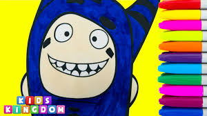 oddbods coloring pages pogo colouring book creative art drawing
