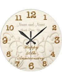 personalized anniversary clock slash prices on personalized 50th anniversary gifts for parents