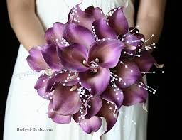 purple calla lilies purple calla wedding flowers