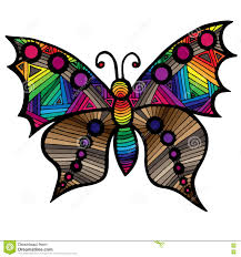 multicolor butterfly for tattoo coloring book for and kid