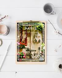 Paris calendar desk calendar 5x7 photography calendar