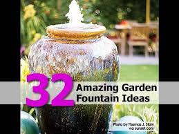32 amazing garden fountain ideas