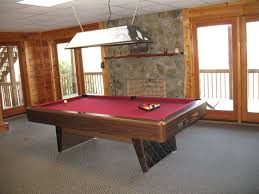 dining pool tables brown wooden dining pool table with red color