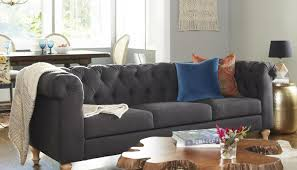 Chesterfield Sectional Sofa Sofa Awesome Chesterfield Sectional Sofa Oxford Grey Linen Laf