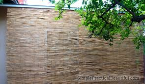 Painted Bamboo Blinds Diy Outdoor Bamboo Shades Simple Practical Beautiful