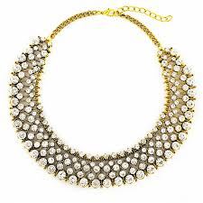 crystal collar statement necklace images Clear crystal collar rhinestone statement necklace by jpg