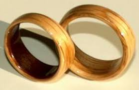 touch wood rings oak wood wedding rings and a cherry wood interior