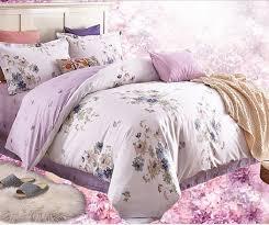 Lilac Bedding Sets Wholesale 4 Pcs Cotton Lilac Bedding Set Duvet Quilt Cover Bed