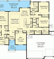 Net Zero Home Plans Plan 33161zr Net Zero Ready House Plan With L Shaped Lanai On