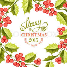 christmas mistletoe christmas mistletoe drawing card with text and border