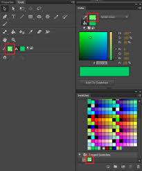 color panel in animate cc