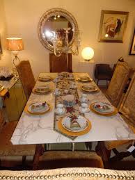 marble slab dining table and 6 barnes chairs custom dining set