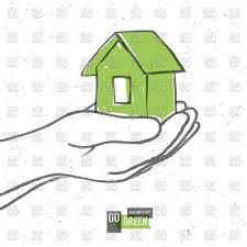 house planet green house in hands go green save our planet royalty free