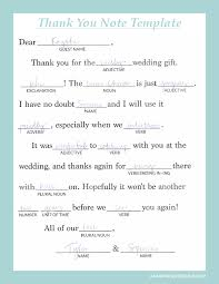 bridal shower thank you notes writing personalized wedding thank you notes notes template mad