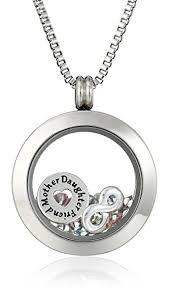 charm locket necklace images Charmed lockets swarovski crystal quot mother daughter jpg