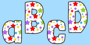 themed letters multicoloured themed funky display letters and numbers
