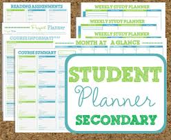 printable student homework planner student agenda template homework planner schedule and weekly