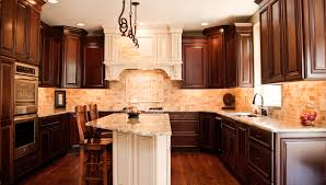 kitchen cabinets cherry finish a blend of white u0026 wood in aurora