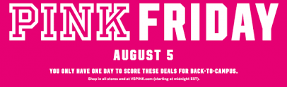 victoria secret on black friday victoria u0027s secret u0027pink friday u0027 2016 sale coming aug 5 nerdwallet
