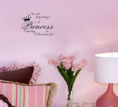 not easy being princess wall sticker decor cute vinyl wall quote