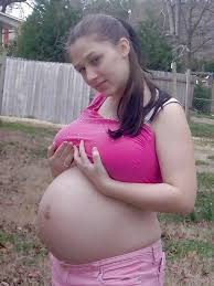 young pregnant housewives on a backyard pregnant naturists