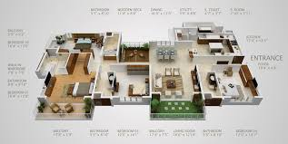 4 bedroom house floor plans cool design 4 bedroom house plans bangalore 13 2400 sq ft planskill