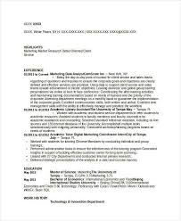 Resume Livecareer Com Marketing Resume Examples 47 Free Word Pdf Documents Download