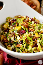 fall shredded brussels sprouts salad iowa eats