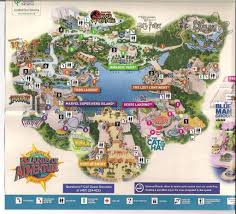 Universal Park Map Wizarding World Of Harry Potter Map Pointcard Me