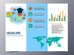 school brochure design templates education and school brochure design template vector flyer stock