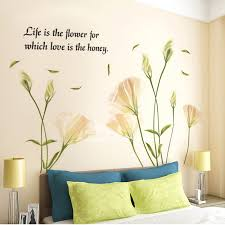 bedroom wall stickers wall art stickers flower letter butterfly self adhesive