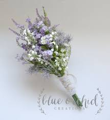 Shabby Chic Purple by Purple Wildflower Bouquet Rustic Bouquet Lavender Wildflower