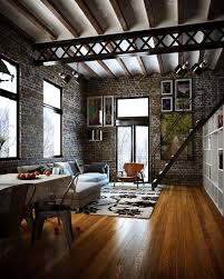 floor and decor ta modern industrial style deep colors complimented by wood