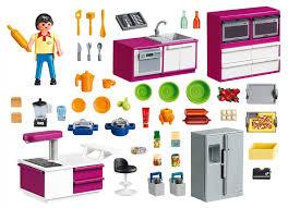 playmobile cuisine playmobil city 5582 pas cher cuisine avec îlot