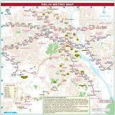Blue Line Delhi Metro Map by Famous Places In Delhi To Visit By Metro Tourist Places Near