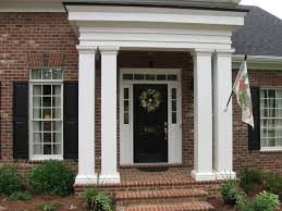 front entry with columns