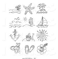 beach scene clipart black and white free clip art images