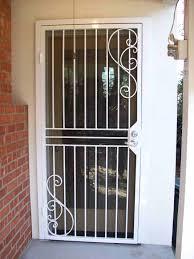 glass security doors burglar bars for sliding glass doors